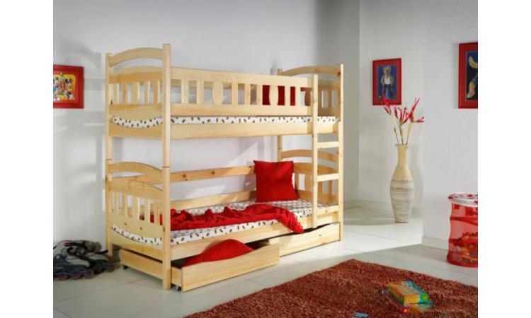 Кровать Сиена 2-х ярусная из массива березы