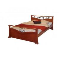 Кровать Золушка с ковкой береза