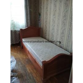 Кровать Европа,цвет мокко-2
