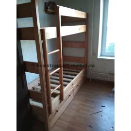 Кровать 2-х ярусная,старый орех-1
