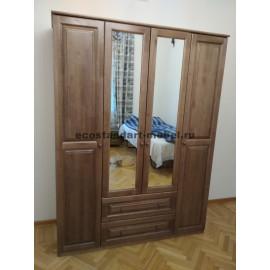 Шкаф 3-х створчатый с зеркалами,венге-2