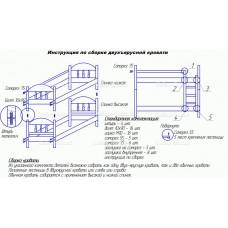 Схема сборки двухъярусной кровати
